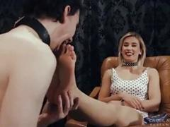 MIstress loves to tease her slave in many ways BDSM