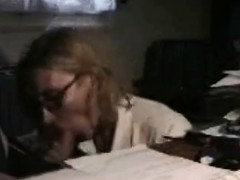 MILF came home from work to eat cock