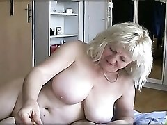 Fat milf and mature suck his dick