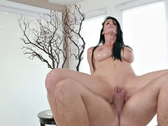 dirty massage with a busty and limber milf reagan foxx