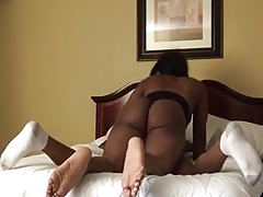Curvy Black Tranny Pounds Trade RAW!