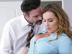 Busty secretary Natasha hot office fuck