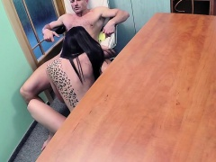 Brunette patient teasing and fucking doctor
