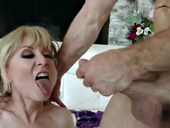 Busty mature cock riding on the face
