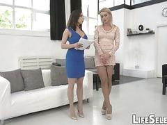 Two EU Babes Vs One Big Cock  Henessy Cherry Kis