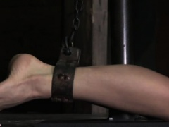 Kinkysex sub restrained and gagged