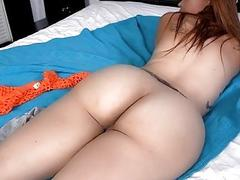 Whore with great oiled ass gets her vagina nailed