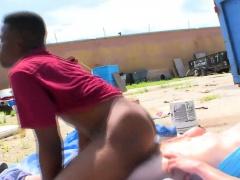 Black thug takes cock
