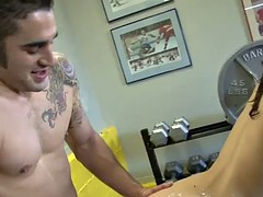 cockhound fucked hard in the gym