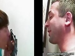 Straight man tricked into gay mouth sex through gloryhole