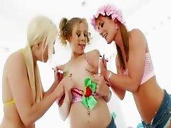 lesbians hardcore butthole toying