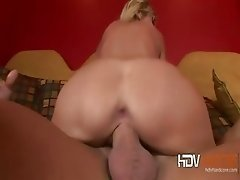 Busty big boobs blonde MILF Reagan Anthony sucking dick and ass fucked HD hardcore porn