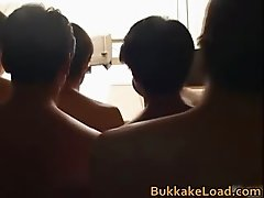 Hime Kamiya Asian teen in hard bukkake part5