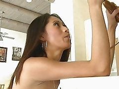 Felicia amazing brunette girl masturbating with vibrator