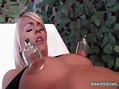 Sexy blond chick with big tits gets her part6