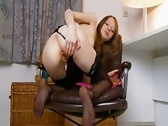 Black pants and cunt masturbation