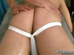 Hansome jock gets his amazing ass massaged part2