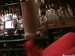 Horny drunk sluts having sex with one dude at the club
