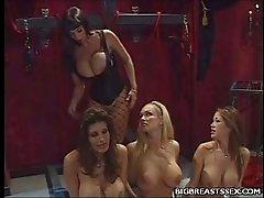 Busty Lesbians Foot Play